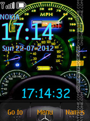 Capture d'écran Speedometer With Neon Icons thème