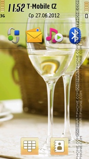 Two Glasses Of Wine theme screenshot