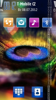 Peacock Feather 01 theme screenshot