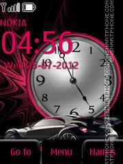 Super Car and Clock tema screenshot
