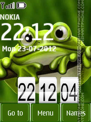 Frog Clock 01 theme screenshot