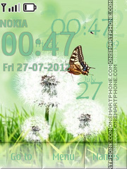 Dandelion and butterfly theme screenshot