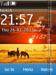 African sunset tema screenshot