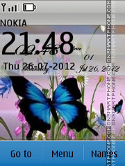 Скриншот темы Butterflies in the meadow