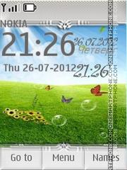 Meadow with Butterflies es el tema de pantalla
