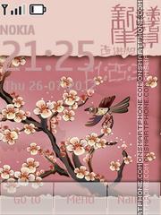 Sakura es el tema de pantalla