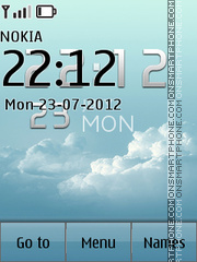 Clouds Clock theme screenshot