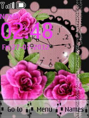 Watch With Flowers theme screenshot