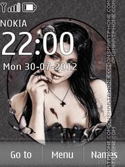 Gothic Girl Theme-Screenshot