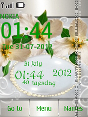 White Orchids theme screenshot