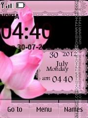 Pink Flowers Theme-Screenshot