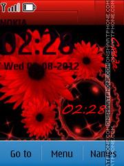 Red flowers Theme-Screenshot