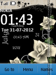 White roses tema screenshot