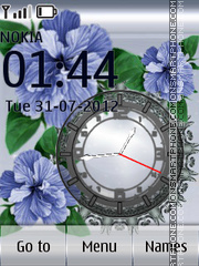 Blue Flowers theme screenshot