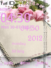 Capture d'écran Pink Roses thème