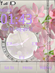 Capture d'écran Just Flowers Clock thème