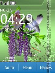 Capture d'écran Birds thème