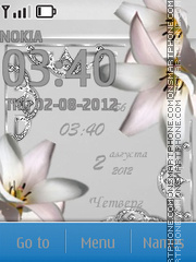 Capture d'écran White Flowers thème
