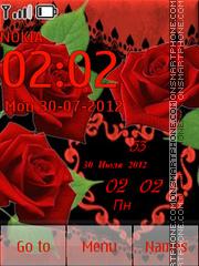 Capture d'écran Red Roses thème