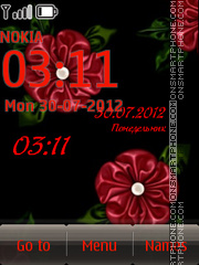 Red Flowers theme screenshot