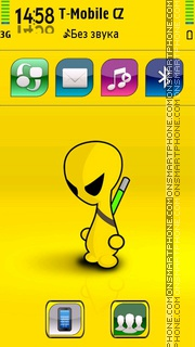 Alien 12 tema screenshot