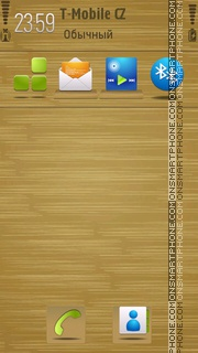 Wooden Shelf S60v5 tema screenshot