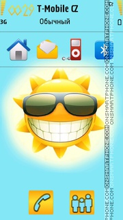 Summer Sun 01 tema screenshot