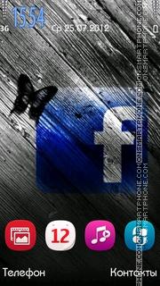 Facebook es el tema de pantalla