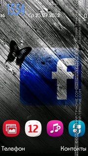 Capture d'écran Facebook thème