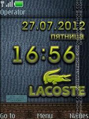 Скриншот темы Lacoste
