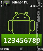 Android Robot theme screenshot