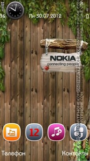 Nokia Wood theme screenshot