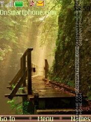 Скриншот темы Bridge In Wood