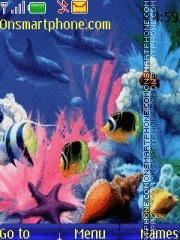Fish In Ocean theme screenshot