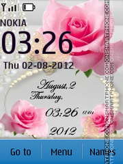 Roses and Pearls theme screenshot