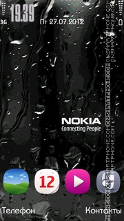 Nokia Drops theme screenshot