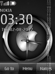 iPhone clock theme screenshot