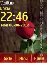 Animated Red Rose tema screenshot