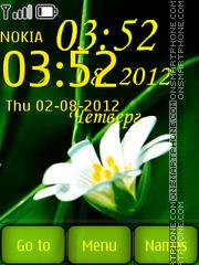 White flower es el tema de pantalla