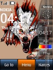 Скриншот темы Angry Wolf 01