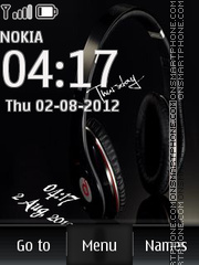Music Headphones 01 tema screenshot