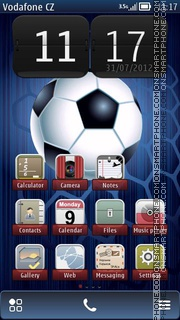 Association Football theme screenshot