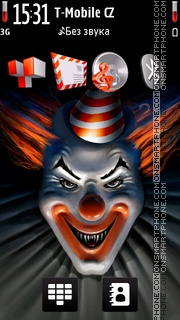 Angry Clown. theme screenshot