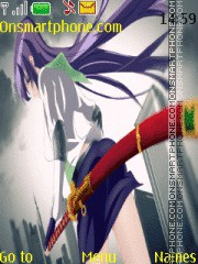 Capture d'écran Highschool Of The Dead Saeko thème