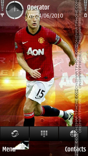 Nemanja Vidic theme screenshot