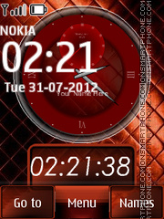 Dual Clock 07 Theme-Screenshot