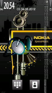 Nokia Music v2 theme screenshot