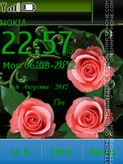 Roses on a dark background theme screenshot