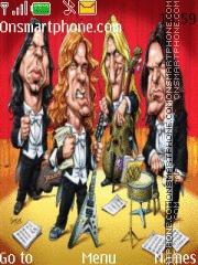 Megadeth Cartoon es el tema de pantalla