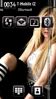 Avril 13 theme screenshot